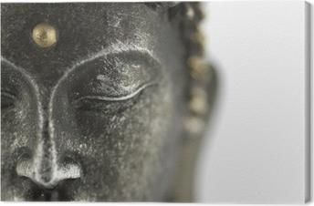 Canvastavla Buddha staty på vit bakgrund