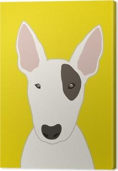 Canvastavla Bull terrier