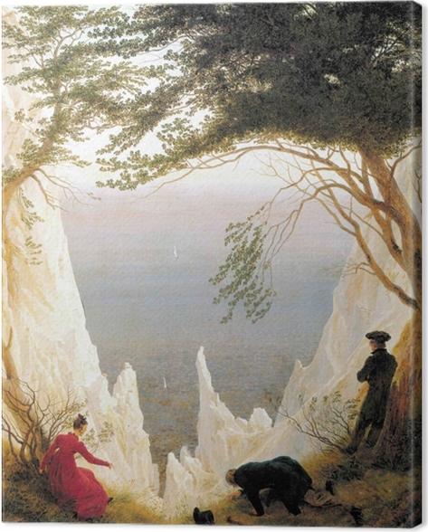 Canvastavla Caspar David Friedrich - Krijtrotsen op Rügen - Reproductions