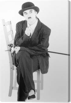 Canvastavla Charles Chaplin