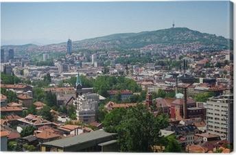 Canvastavla Cityscape av Sarajevo