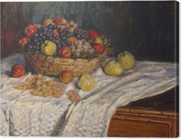 Canvastavla Claude Monet - Druvor och äpplen - Reproduktioner