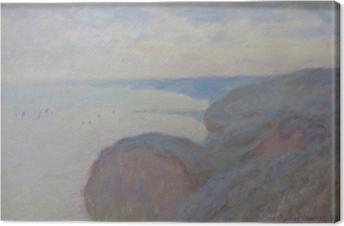 Canvastavla Claude Monet - Klippan nära Dieppe