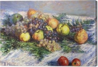 Canvastavla Claude Monet - Päron och druvor. Stilleben med frukter
