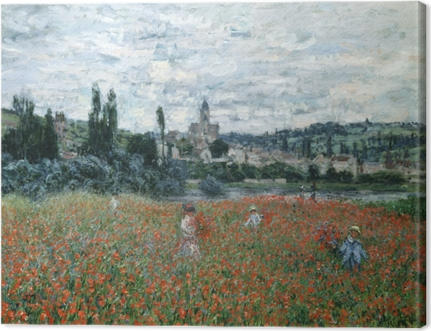 Canvastavla Claude Monet - Vallmofält nära Argenteuil - Reproduktioner