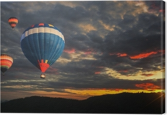 Canvastavla Colorful luftballong