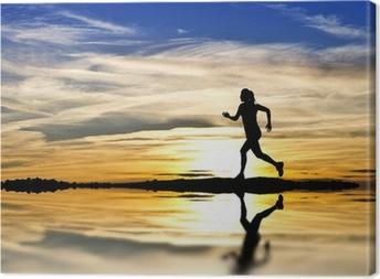 Canvastavla Corriendo por la orilla del Lago