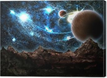 Canvastavla De förlorade värld, planet, kosmos