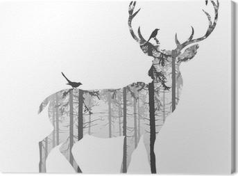 Canvastavla deer