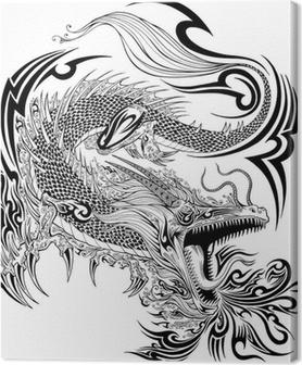 Drake klotter Skiss tatuering vektor