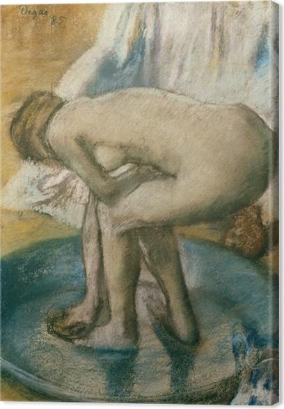 Canvastavla Edgar Degas - I badet - Reproduktioner