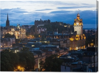 Canvastavla Edinburgh stadsbild