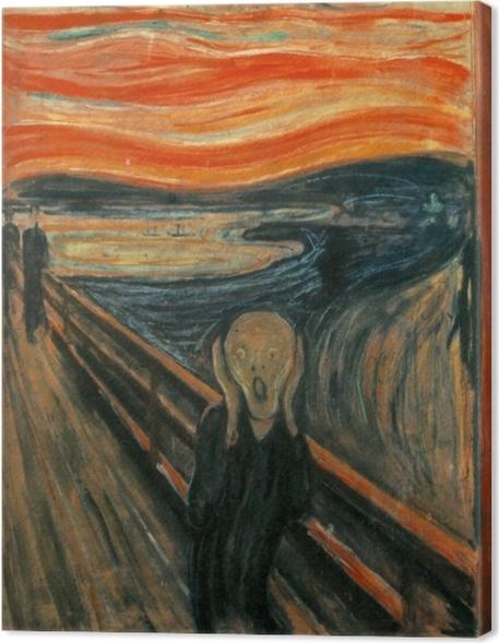 Canvastavla Edvard Munch - Skriket - Reproduktioner