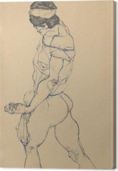 Canvastavla Egon Schiele - Den Pacer - Reproduktioner