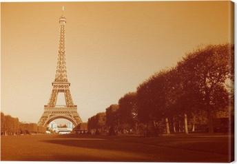 Canvastavla Eifell Tower i Sepia