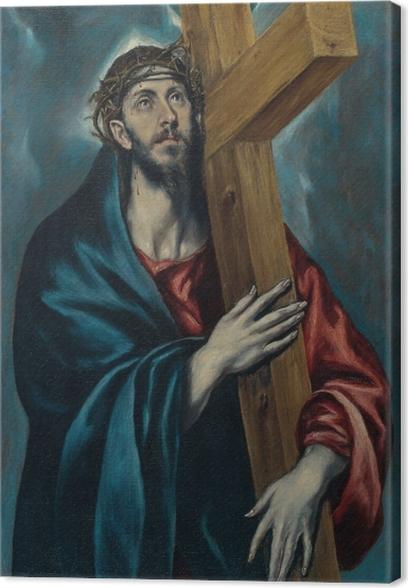 Canvastavla El Greco - Kristus som bär kors - Reproduktioner