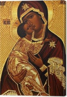 Canvastavla En ortodox ikon av Maria, Vladimirskaya