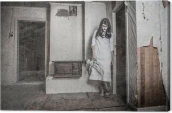 Canvastavla En skrämmande spöke flicka