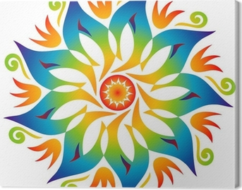 Canvastavla Energy Mandala Rainbow Colors