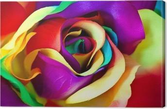 Canvastavla Fake ros blomma