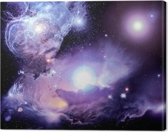 Canvastavla Fantasy Space Nebula