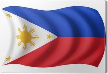 Canvastavla Filippinerna flagga - filippinsk flagga