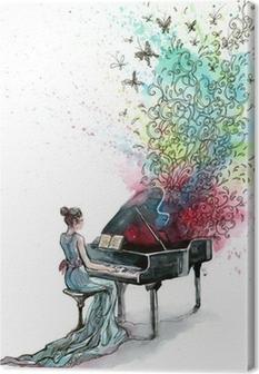 Canvastavla Flygel musik (serie C)