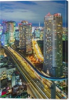 Canvastavla Flygfoto över Tokyo skyskrapor, Minato, Japan
