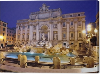 Canvastavla Fontana di Trevi i Rom