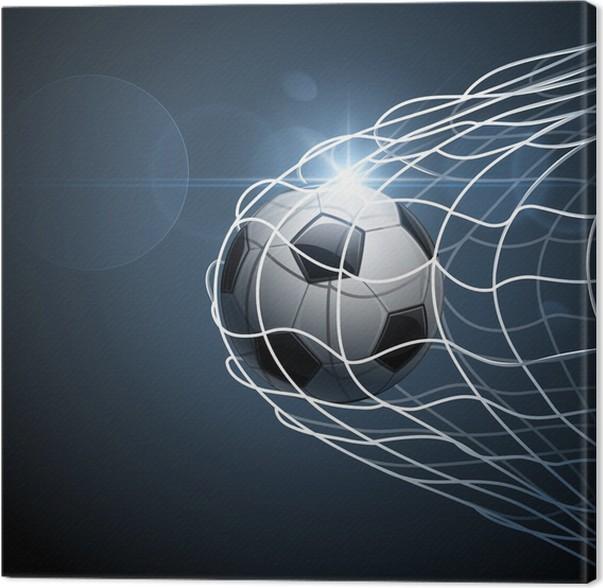 Canvastavla Fotboll i mål. Vektor • Pixers® - Vi lever för förändring 36f3bc0e0fb45