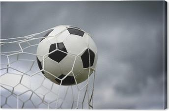 Canvastavla Fotbollsmål. En fotboll i ett nät. Vektor bild • Pixers® - Vi  lever för förändring 9e8a7b9833f15