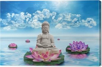 Canvastavla Frihets Bouddha