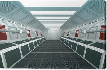 Canvastavla Futuristisk Corridor