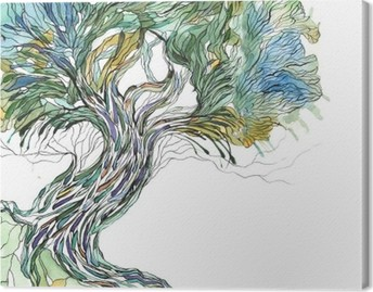 Canvastavla Gamla träd