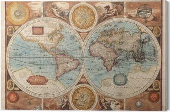 Canvastavla Gammal karta (1626)