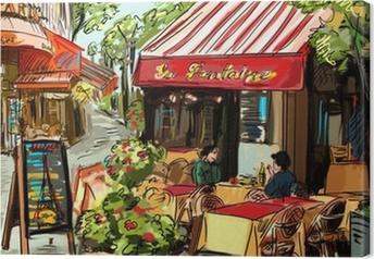 Canvastavla Gata i Paris - illustration