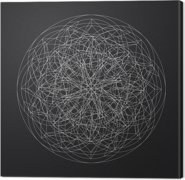 Canvastavla Geometrisk element_star pattern_vector_line utformning - Grafiska resurser