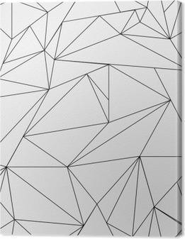 Canvastavla Geometrisk enkel svart och vit minimalistisk mönster, trianglar eller glasmålning. Kan användas som bakgrundsbild, bakgrund eller textur.