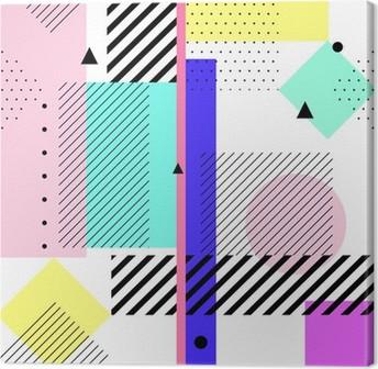 Canvastavla Geometriska element Memphis