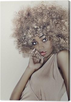 Canvastavla Glamour hår modell