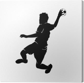Canvastavla Handballer