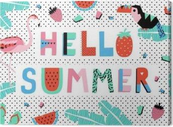 Canvastavla Hello sommar affisch