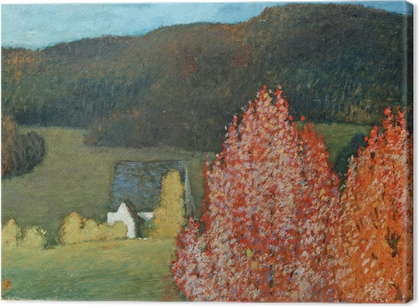 Canvastavla Helmer Osslund - Herfstig landschap met bomen - Reproductions