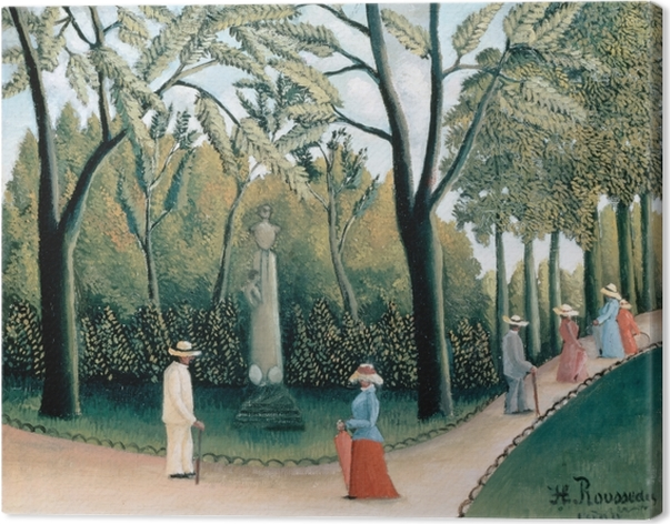 Canvastavla Henri Rousseau - Monument till Chopin i Luxembourgträdgården - Reproduktioner
