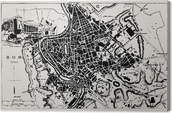 karta över rom centrum Canvastavla Historisk karta över Rom, Italien. • Pixers®   Vi  karta över rom centrum