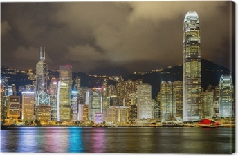 Canvastavla Hongkong horisont