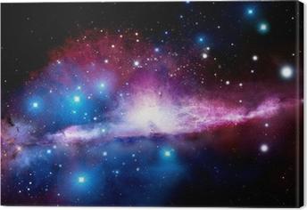 Canvastavla Illustration av en nebulosa