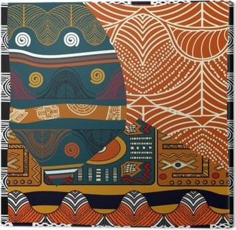 Canvastavla Indian färgad sömlös pattern.Vector illustration