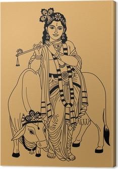 Canvastavla Indiska guden