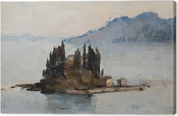 Canvastavla Jan Ciągliński - Korfoe. Van de reis naar Griekenland - Reproductions